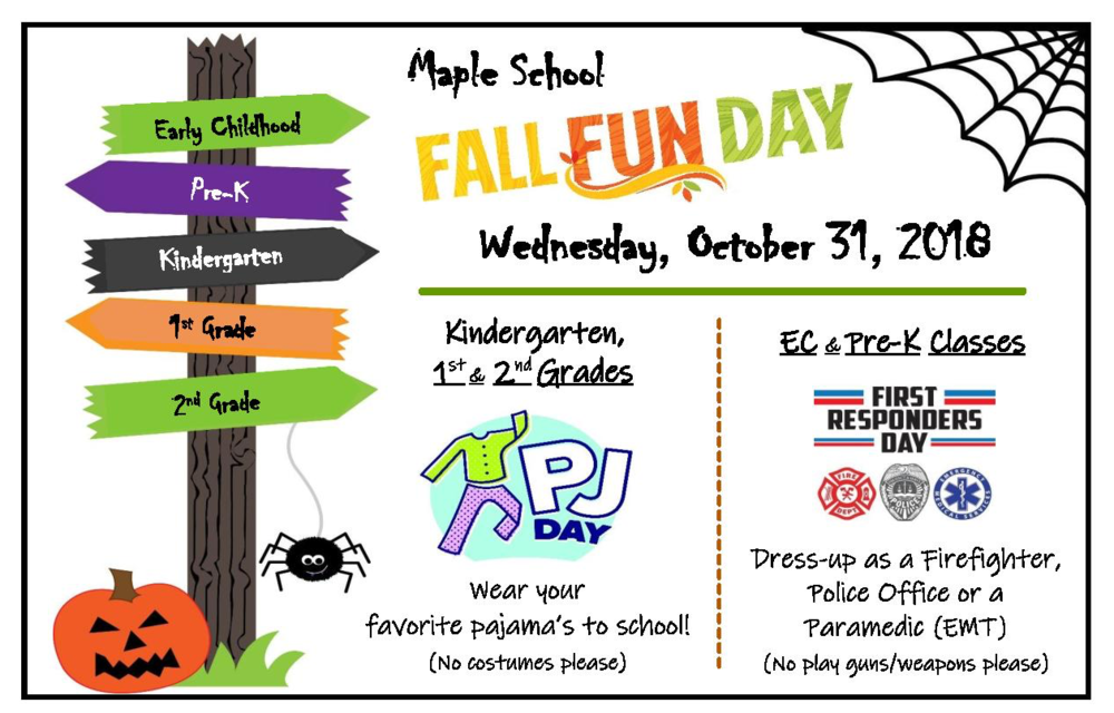 Fall Fun Day Wednesday October 31