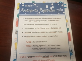 2020 Kindergarten Preregistration