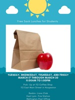 Free Sack Lunches for Students