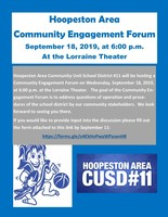 Join us for the Hoopeston Area Community Engagement Forum