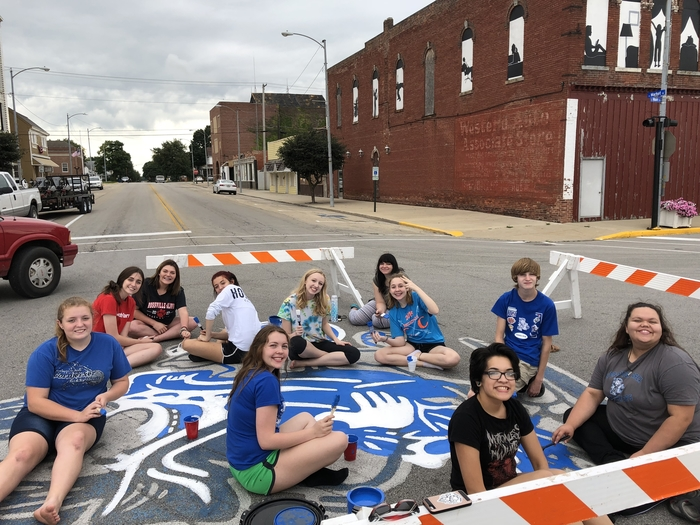 The Art Club painted the Jerky downtown in preparation for the Sweetcorn Parade! #CornjerkerPride