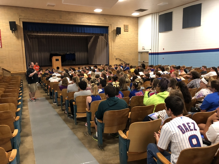 HAHS athletes meeting today with Mr. Colston.