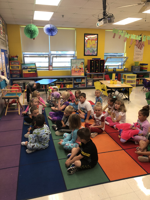Pajama day in kindergarten #cornjerkerpride