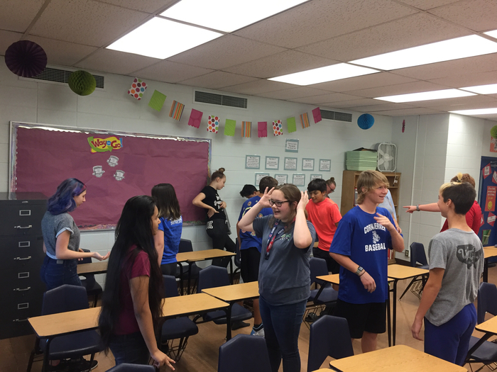 1st hour class worked really well together to pull off the activity