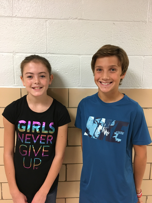 6th Grade Student of the Month Winners