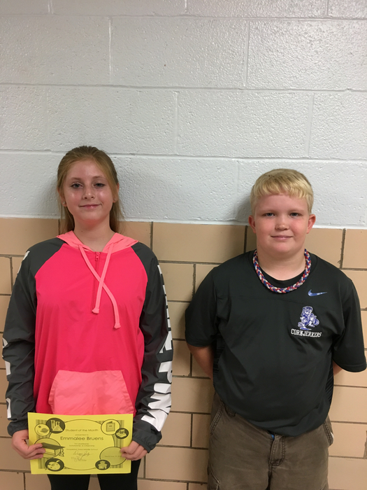 7th Grade Student of the Month Winners