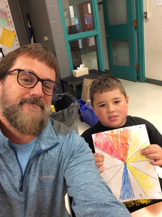 Helping a student with his color wheel #CornjerkerPride