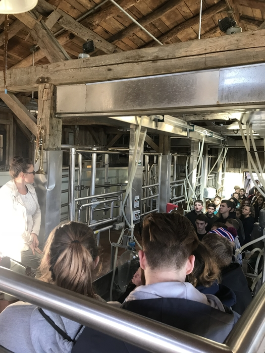 FFA touring the traders point creamery