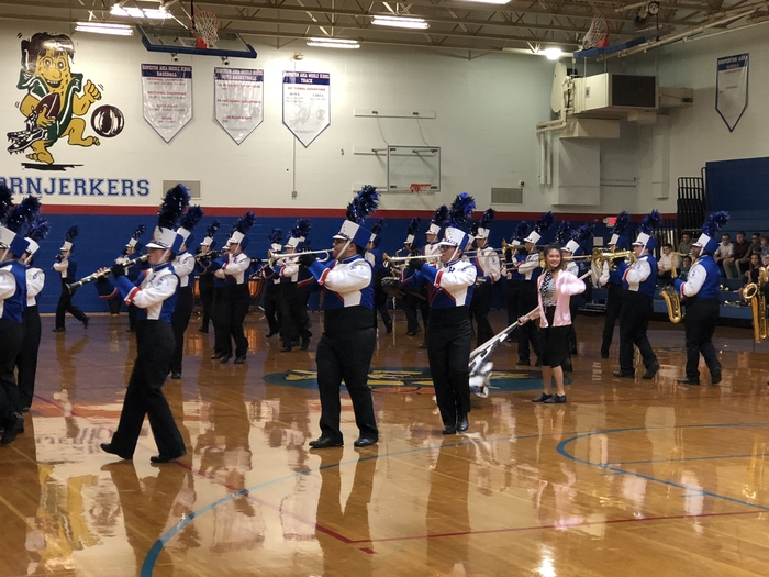 HAHS Marching Band performing at the fall concert.