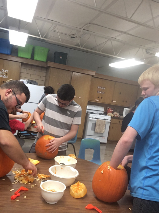 Learning knife safety by doing a pumpkin carving contest!