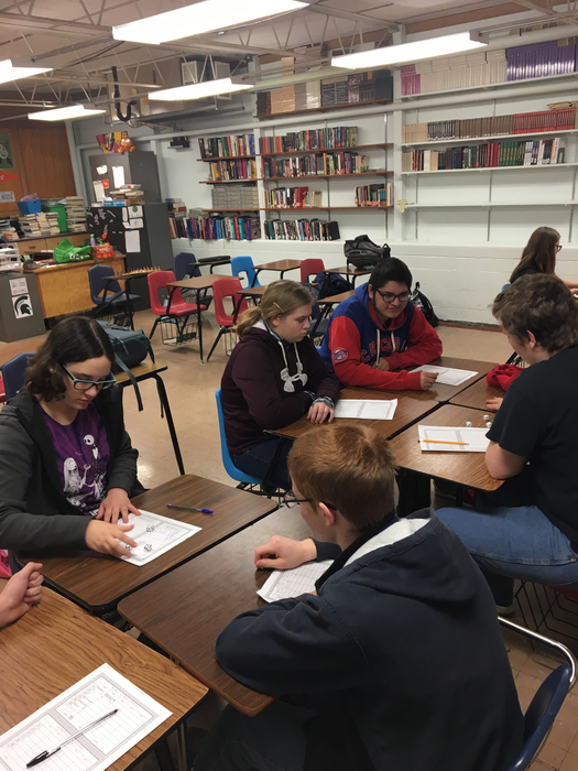 Game Club held a Bunco tournament today. Bunco is a lightning-fast dice game of reflexes and luck.