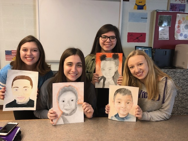 Art 3 students who participated in the Kindness Memory Project