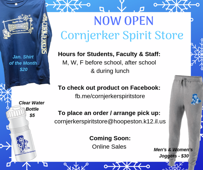 NOW OPEN: Cornjerker Spirit Store
