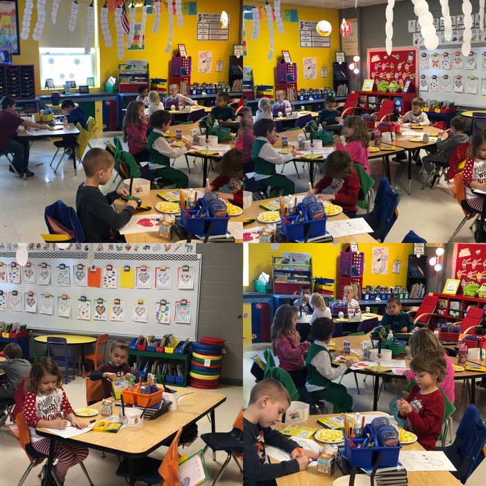 Popcorn and valentine coloring for our dojo reward!