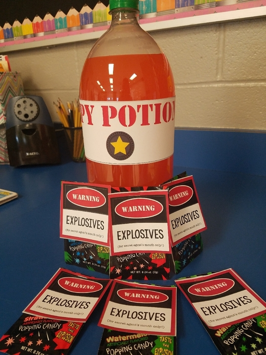"spy potion and ""explosives"""