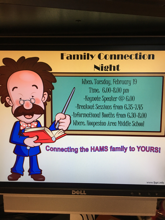 Family Connection Night: February 19th, 6-8pm