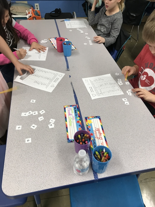 "Making words with ""Valentine's Day"""