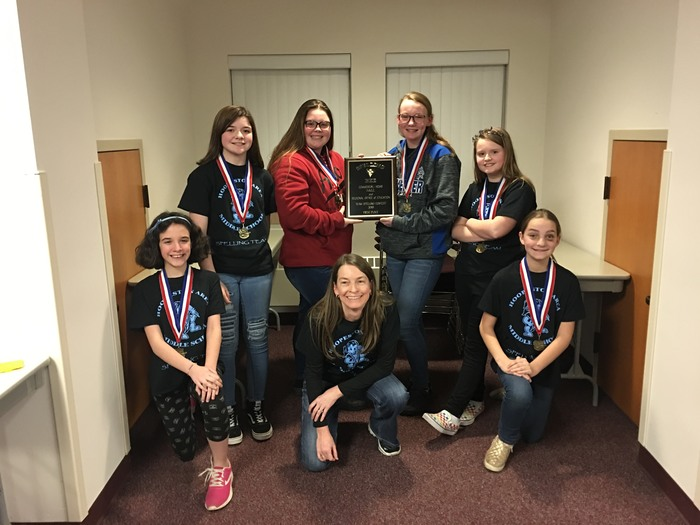 HAMS Spelling Team wins County Finals!