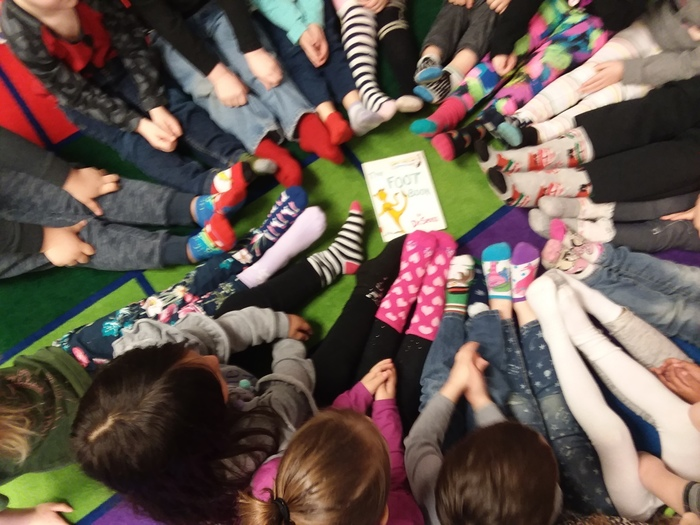 Crazy Sock day in Pre-K- AM