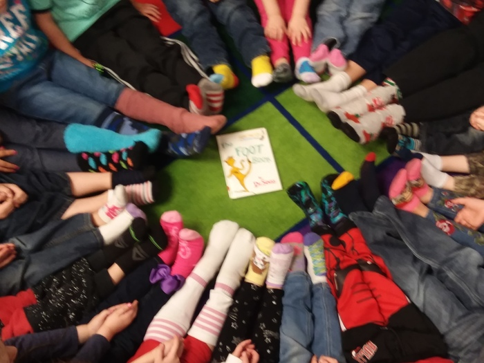 Crazy Sock Day in Pre-K- PM class