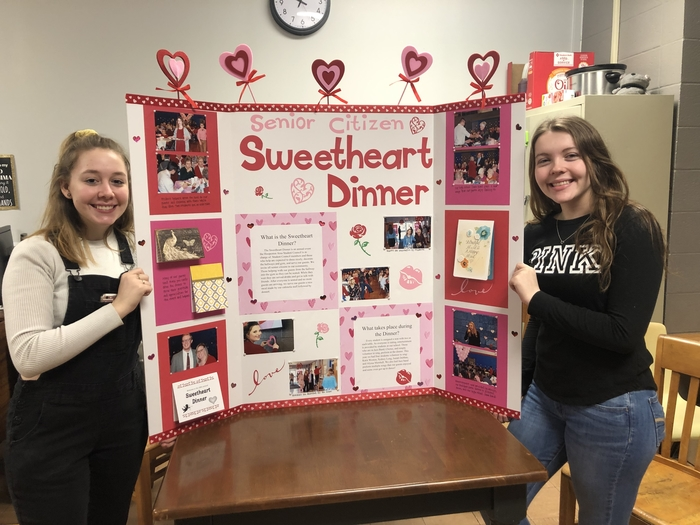 Sweetheart Dinner Hall of Ideas display
