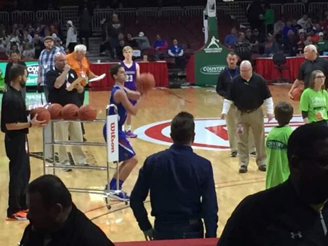 Congratulations to Graham Eighner who just won the IHSA Class 2A State 3-Point Shootout!!! Way to go Graham!! #CornjerkerPride