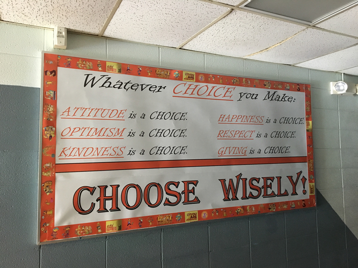 7th grade is making wise choices!