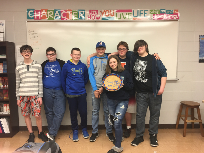 "Scholastic Bowl team celebrates team high score of ""310"""