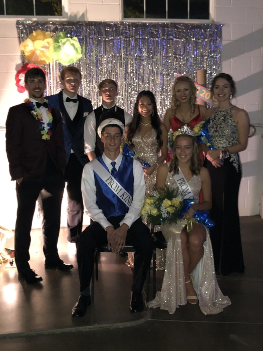 2019 Prom Court with King & Queen Gracie and Graham Eighner #Cornjerkerpride