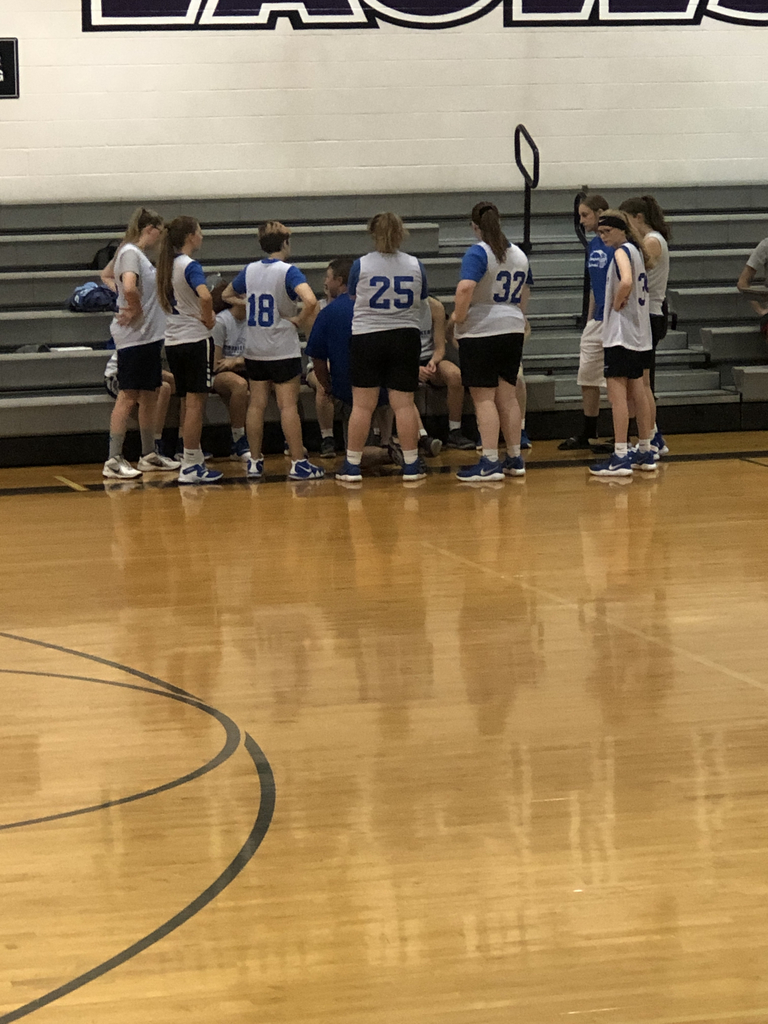Lady Cornjerkers getting ready to take the  court today!