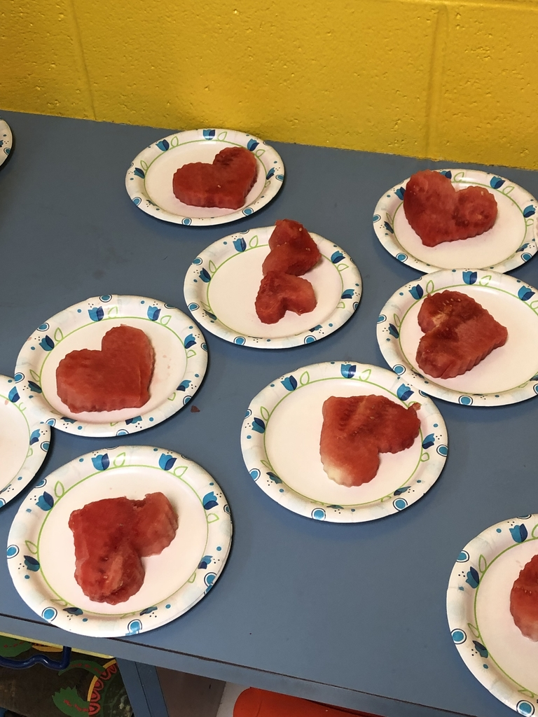 Kindness hearts made of watermelon today in kindergarten!