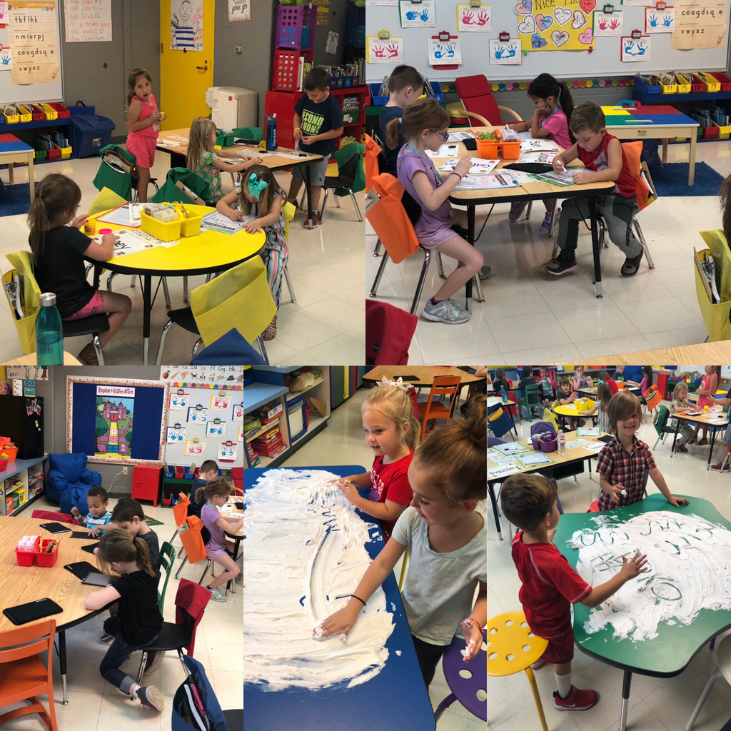 Name practice in kindergarten