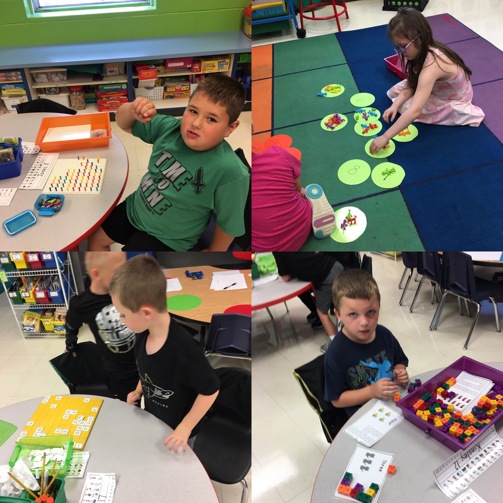 Math Stations in Kindergarten