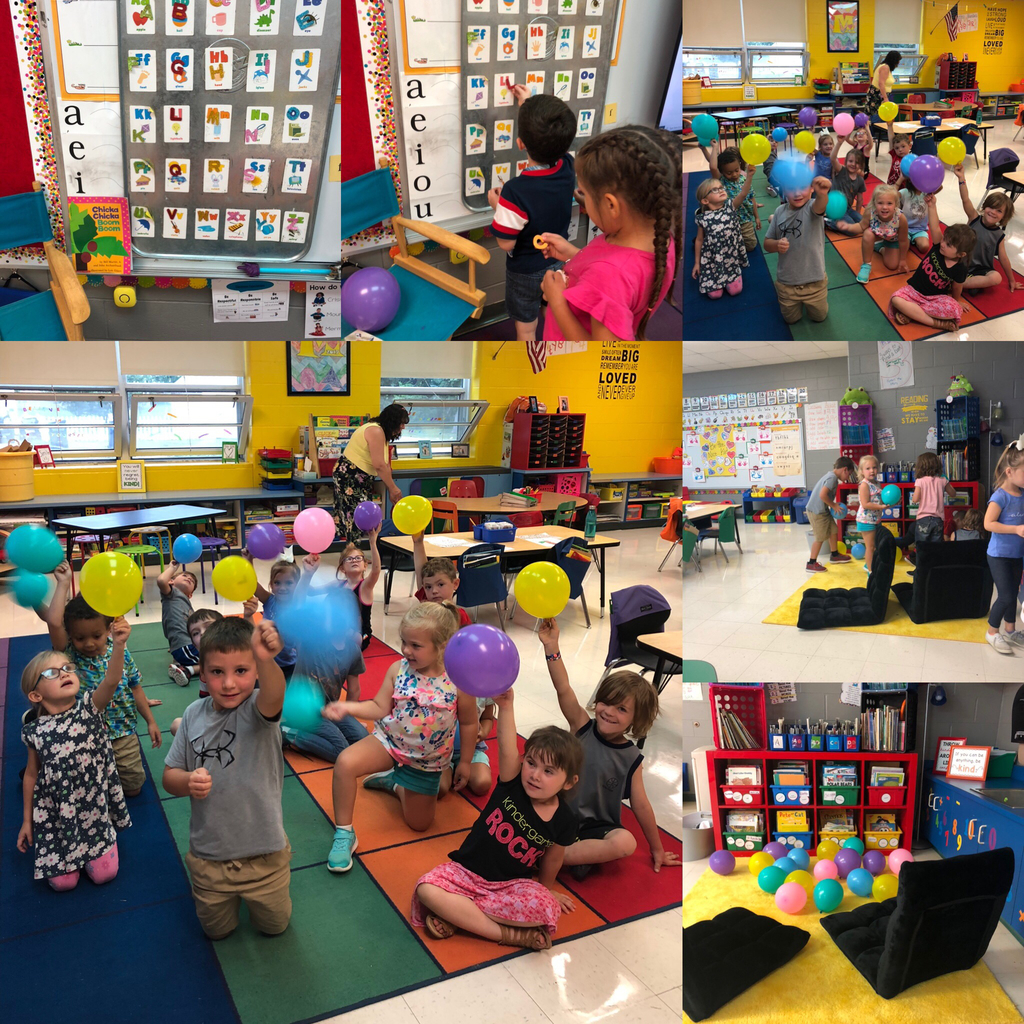Mrs Miller's class had a ballon pop with letters inside!