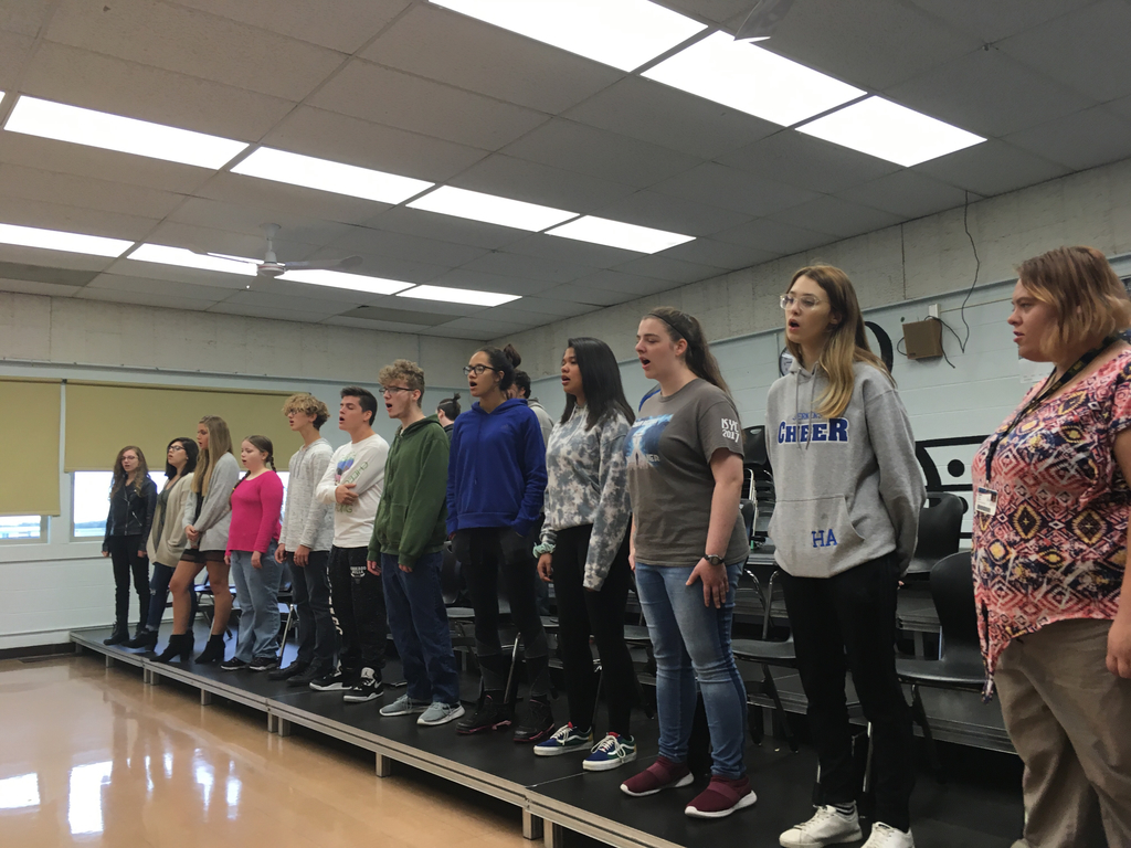 Chorus practicing for Friday