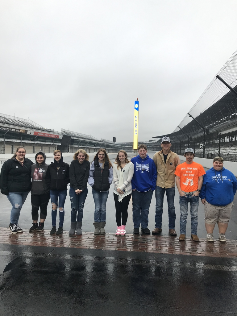HAHS FFA at the Brickyard start finish line #cornjerkerpride #HAHS