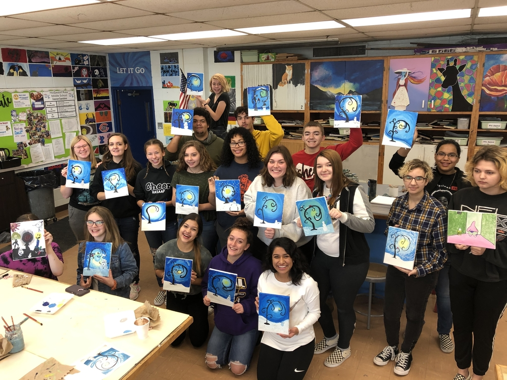 Love our Masterpieces 💙 Painting and Cocoa!