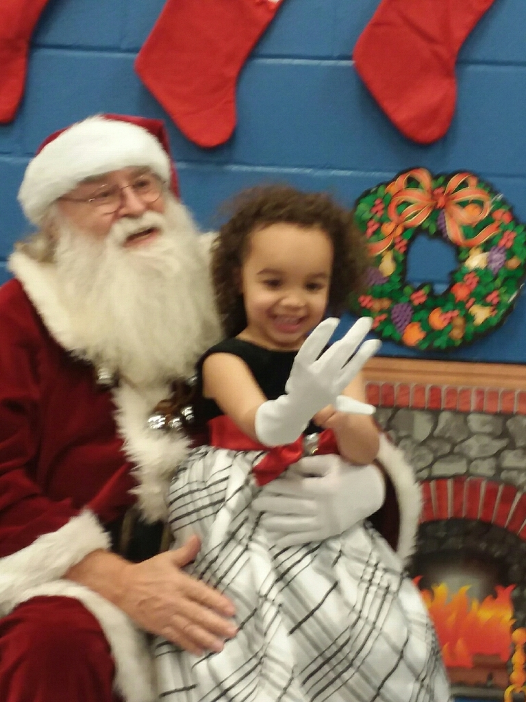 Santa visited the Maple school Prescool classes.