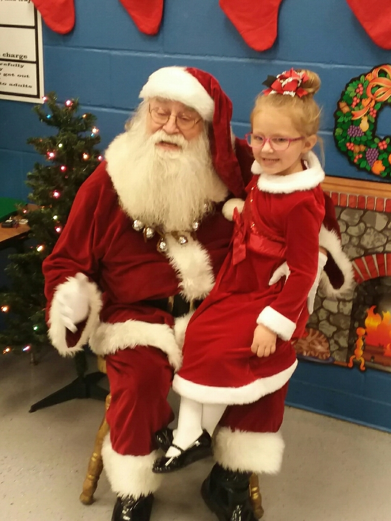 Santa visits Preschool at our Christmas celebration yesterday.