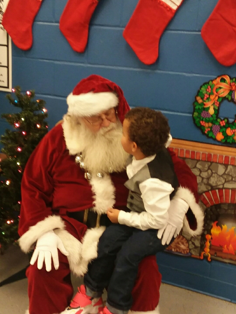 Talking with Santa.
