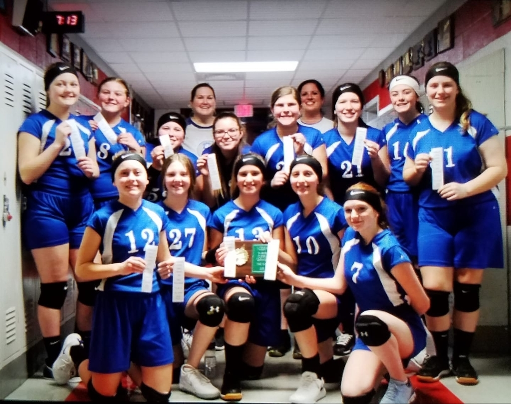 Congratulations 7th grade Lady Cornjerker Volleyball team! 3rd place at County!