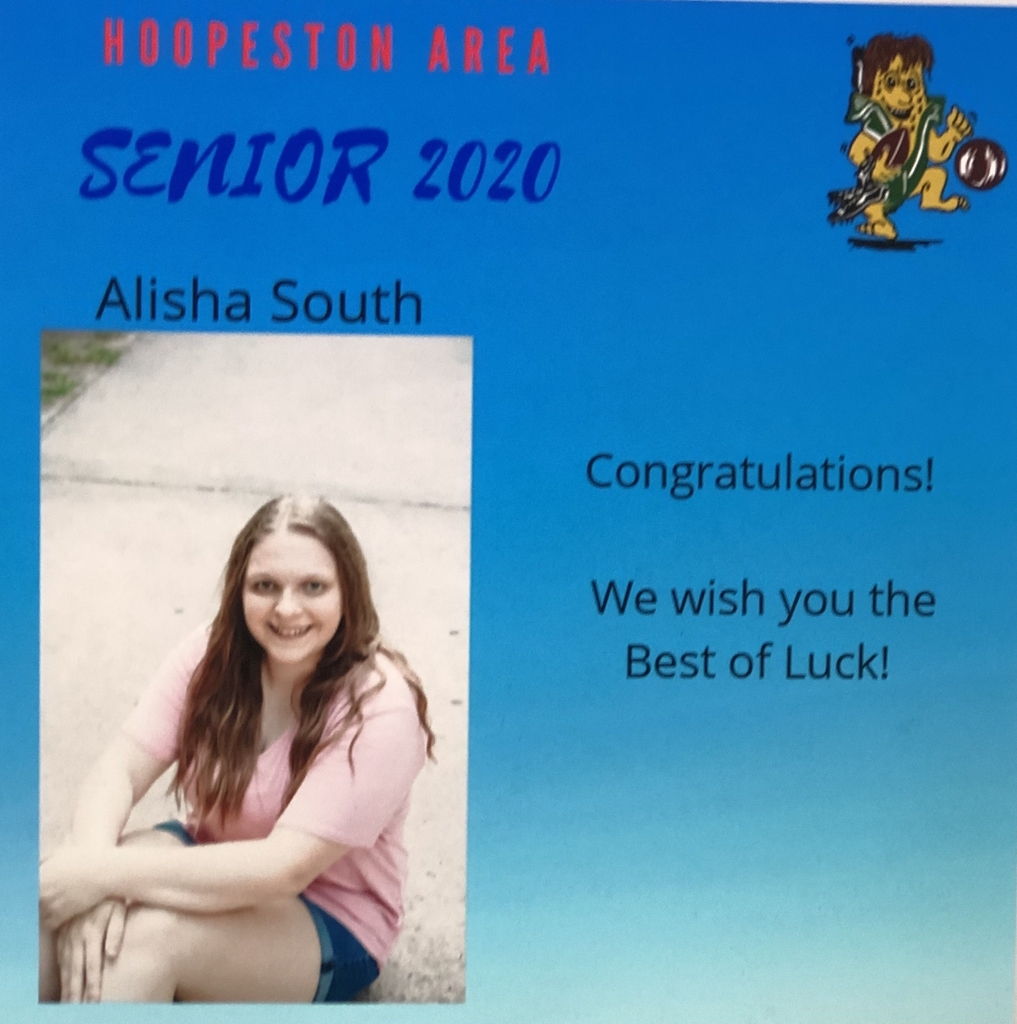 2020 SENIOR SHOUT OUT!💙